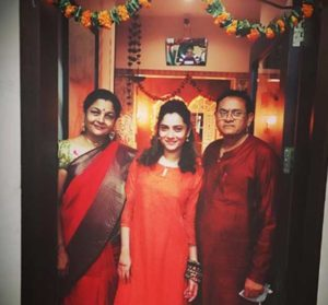Ankita Lokhande With Father & Mother