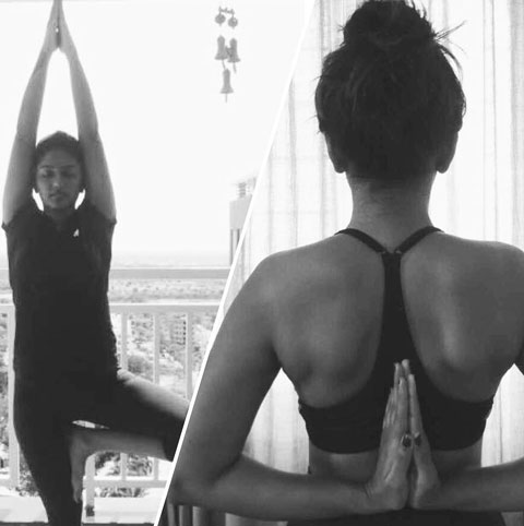 Eesha Rebba, while doing Yoga