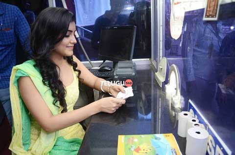 Malavika Sharma While Selling Movie Tickets