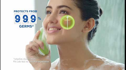 Malavika Sharma in Dettol Soap Ad Film