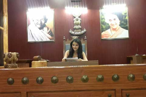 Malavika Sharma In Honourable Judge Seat
