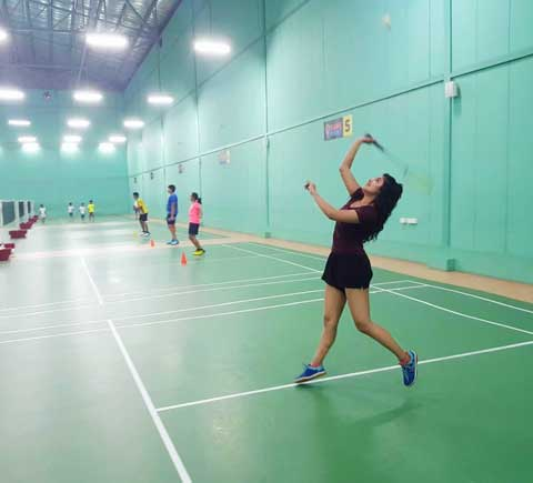 Malavika Sharma In badminton Court