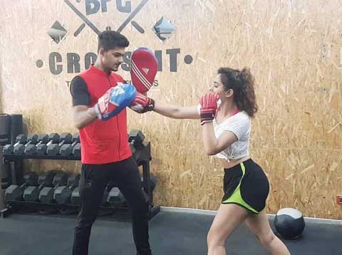 Malavika Sharma While Boxing