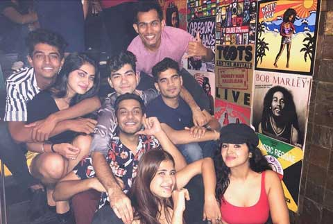 Malavika Sharma With Friends
