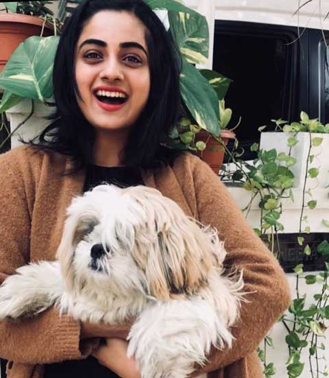 Namitha Pramod With Her Dog