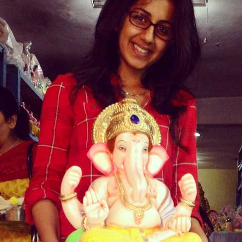 Nikki Galrani With Her favourite god