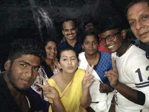 Nikki Galrani With Her Fans
