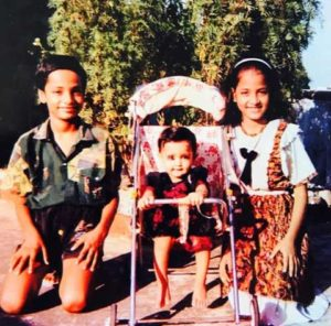 Shanvi As a Kid With her brother and sister