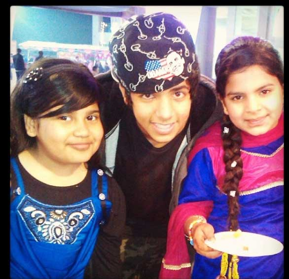 Yunan Music Uday Singh with Cousin and Sister