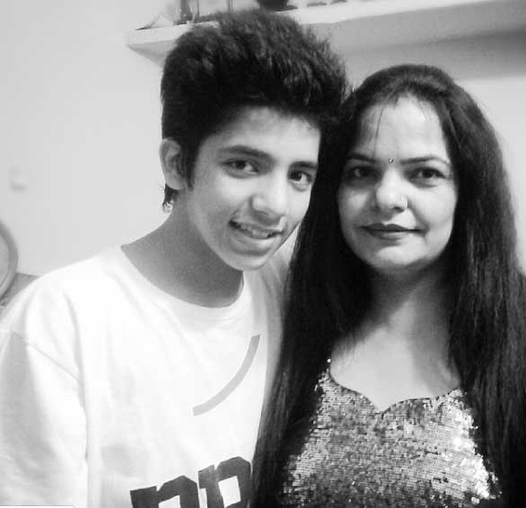 Yunan Music Uday Singh with Mother