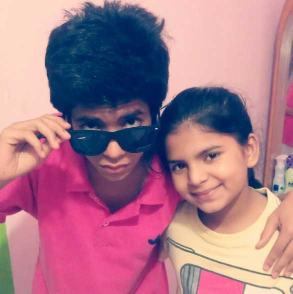Yunan Music Uday Singh with younger sister