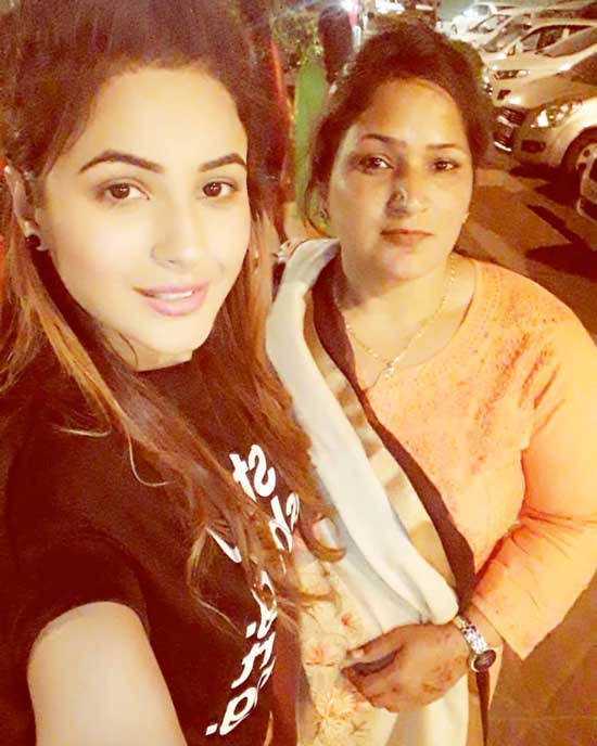 Big Boss Shehnaaz Gill With her mother