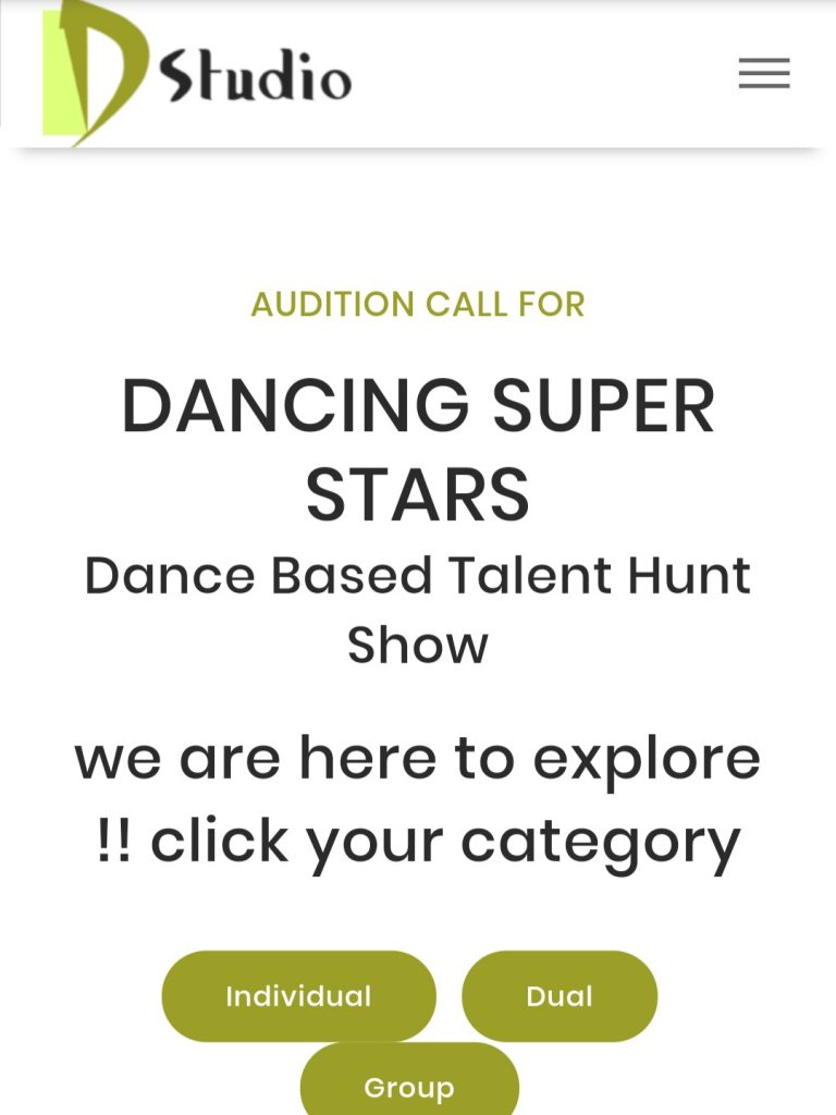 Dancing Super Stars star vijay tv Audition call