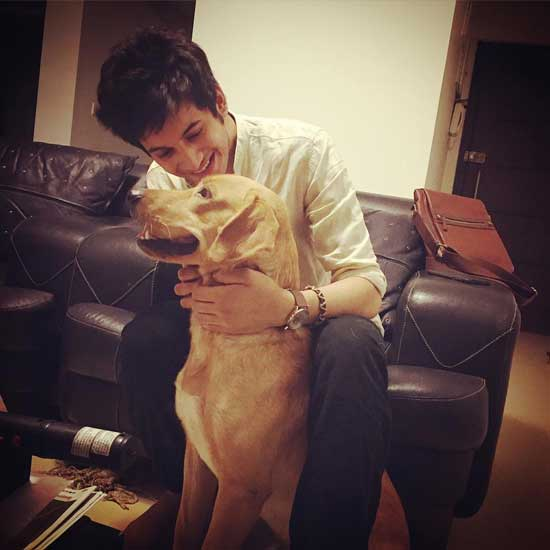 Rohit Suresh With His Pet Animal