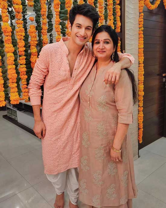 Rohit Suresh with his Mother
