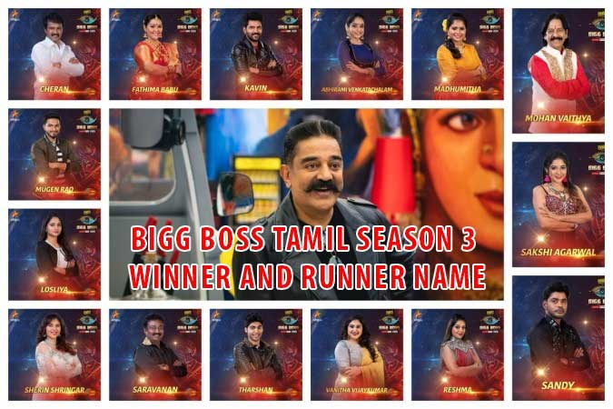 Bigg Boss Tamil Winner Runner Name