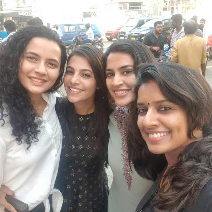 Vanditha with mollywood friends